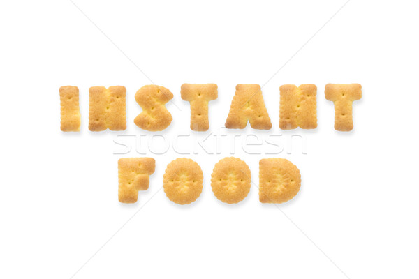 The Letter Word INSTANT FOOD. Alphabet  Cookie Biscuits Stock photo © vinnstock