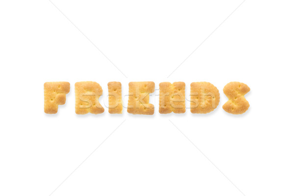 The Letter Word FRIENDS Alphabet Biscuit Cracker Stock photo © vinnstock