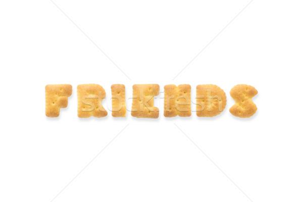 Mektup kelime arkadaşlar alfabe bisküvi kolaj Stok fotoğraf © vinnstock