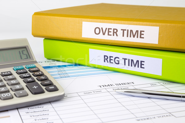Daily time record with blank payroll time sheet  Stock photo © vinnstock