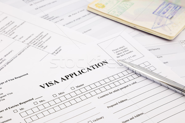 visa application Stock photo © vinnstock