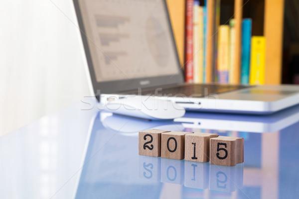 2015 nieuwjaar doelen werk jaar aantal Stockfoto © vinnstock