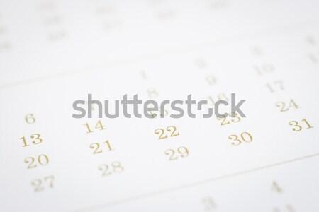 Modern calendar in clean minimal style. Stock photo © vinnstock