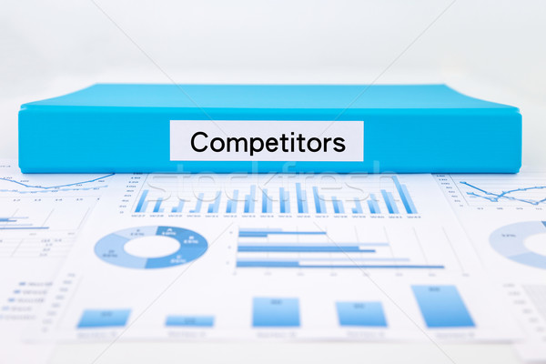 Competitor analysis report for business strategic planning Stock photo © vinnstock