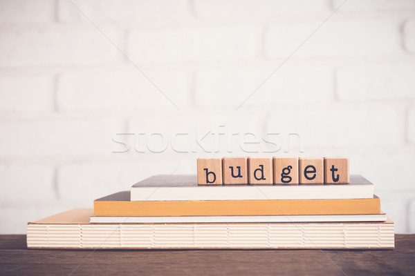 The word Budget and blank space background. Stock photo © vinnstock