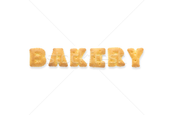 The Letter Word BAKERY Alphabet  Biscuit Cracker Stock photo © vinnstock