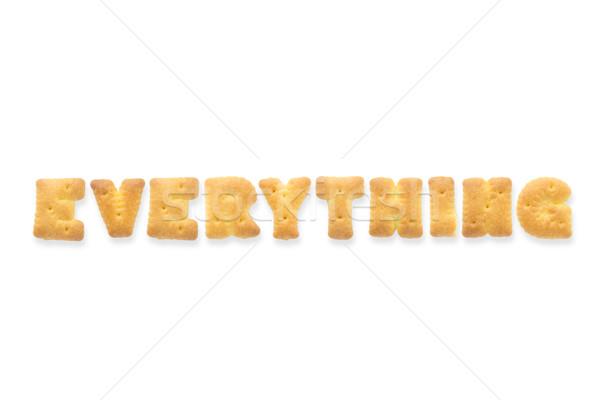 Lettre mot alphabet cookie collage personnage Photo stock © vinnstock