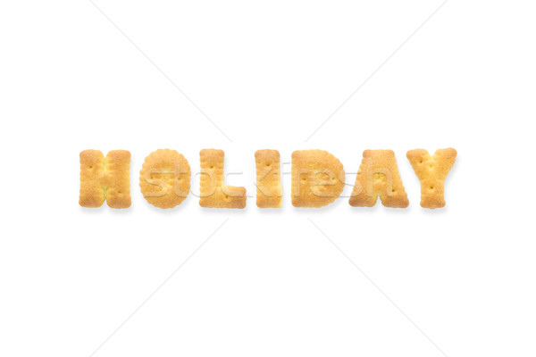Lettre mot vacances alphabet cookie biscuits Photo stock © vinnstock