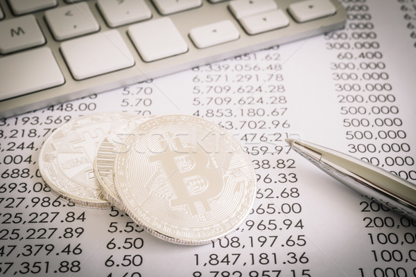 Proof of work in Bitcoin, decentralized network transaction. Stock photo © vinnstock