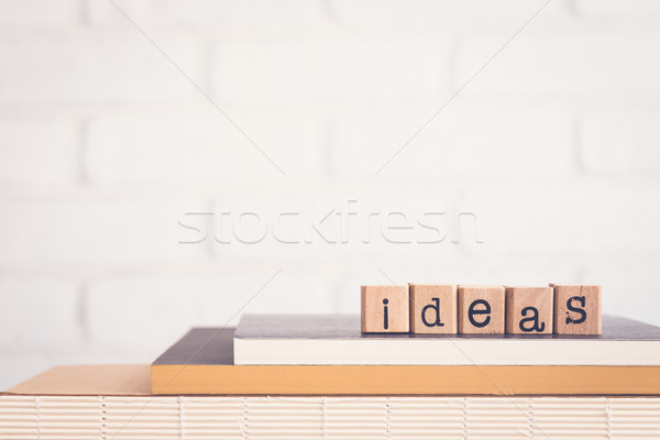 The word Ideas and copy space background. Stock photo © vinnstock