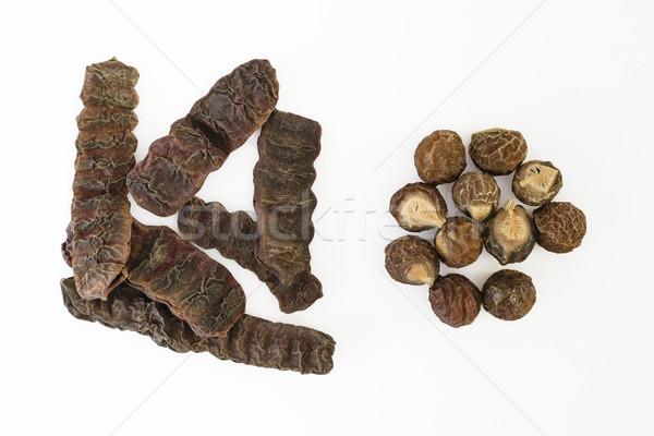Dried Shikakai pods and Soapnuts  Stock photo © vinodpillai