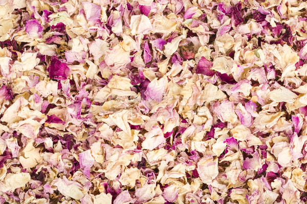 Gedroogd rozenblaadjes Rood koken roze mooie Stockfoto © vinodpillai
