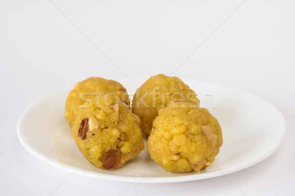 Boondi Laddoo (Indian sweet) Stock photo © vinodpillai