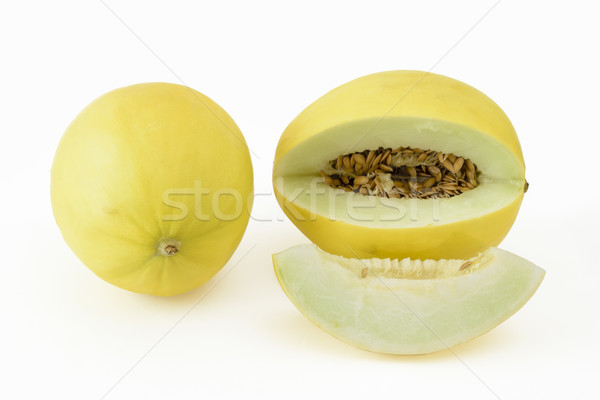 Ensemble jaune melon blanche dessert Photo stock © vinodpillai