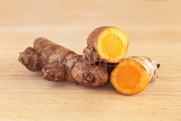 Fresh Turmeric Rhizome  Stock photo © vinodpillai