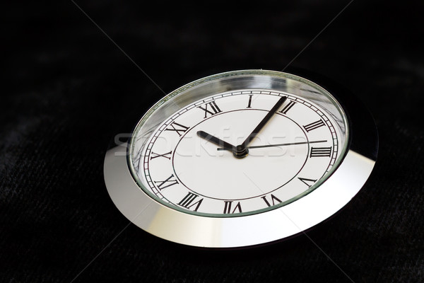 steel watch on black velvet Stock photo © vinodpillai