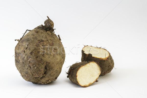 Légumes fraîches coupé Inde fond blanc brun Photo stock © vinodpillai