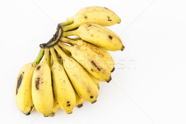 Banane fruits blanche indian fraîches Photo stock © vinodpillai