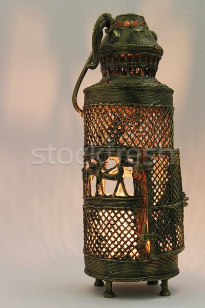 Indian lanterne métal blanche Asie Photo stock © vinodpillai