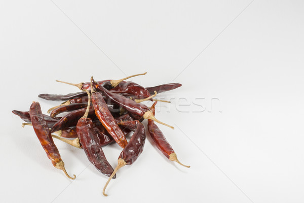 Dry red Indian chillies Stock photo © vinodpillai
