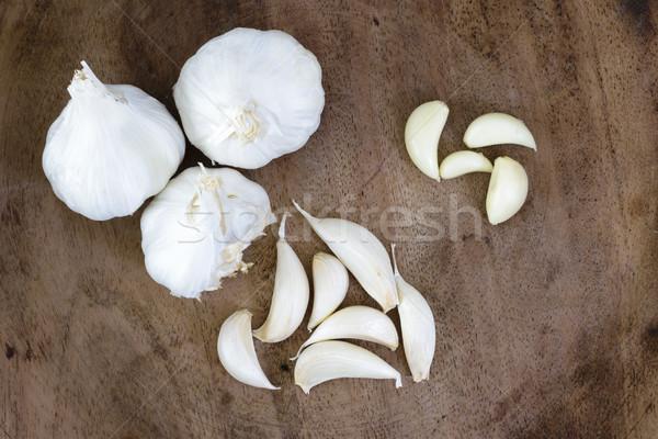 Ail bois alimentaire médecine légumes Photo stock © vinodpillai