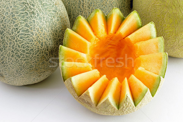 Musk Melon cut and cleaned Stock photo © vinodpillai
