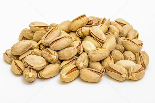 Pistache noix blanche alimentaire Photo stock © vinodpillai