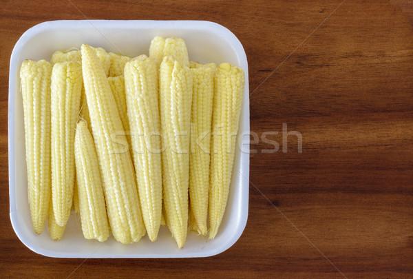 Stok fotoğraf: Bebek · mısır · yemek · sebze · sarı