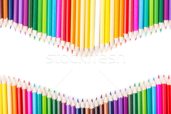 цвета карандашей радуга белый копия пространства Сток-фото © viperfzk