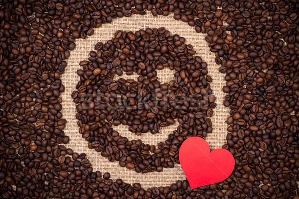 кофе красный сердце Сток-фото © viperfzk