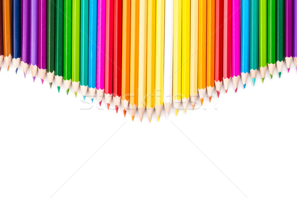 Color pencils with white copy space below Stock photo © viperfzk