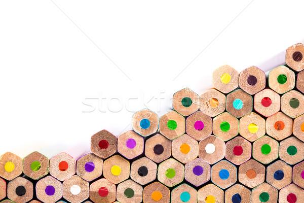 Közelkép ceruzák köteg copy space makró lövés Stock fotó © viperfzk