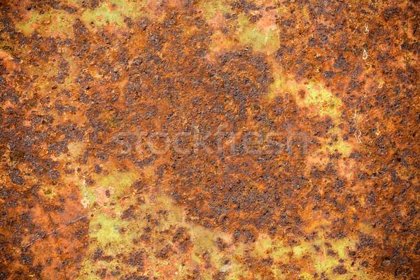 öreg rozsdás viharvert fém textúra tapéta textúra Stock fotó © viperfzk