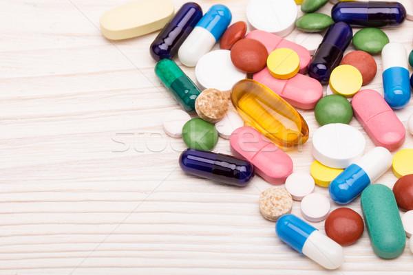 различный таблетки капсулы макроса выстрел цвета Сток-фото © viperfzk