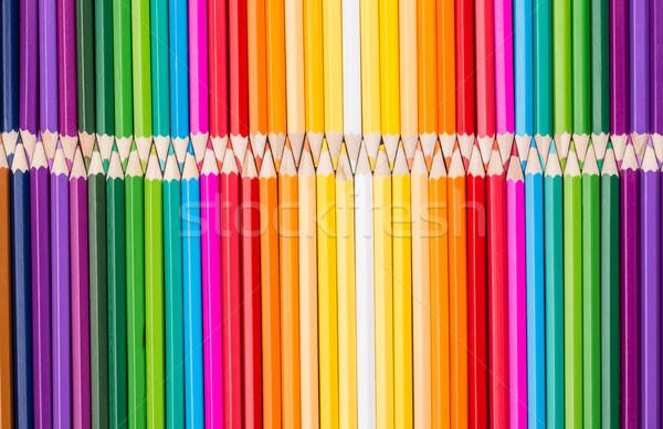 Color pencils rainbow arrangement Stock photo © viperfzk