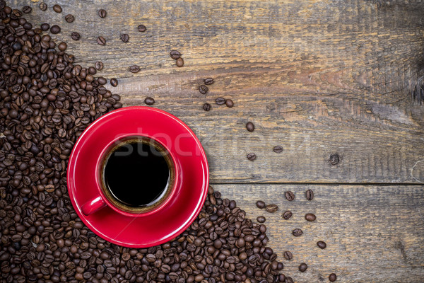 ежедневно кофе чашку кофе древесины кафе Сток-фото © viperfzk