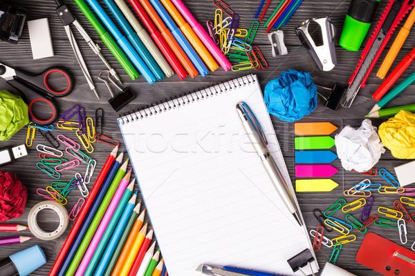 столе блокнот текста Сток-фото © viperfzk