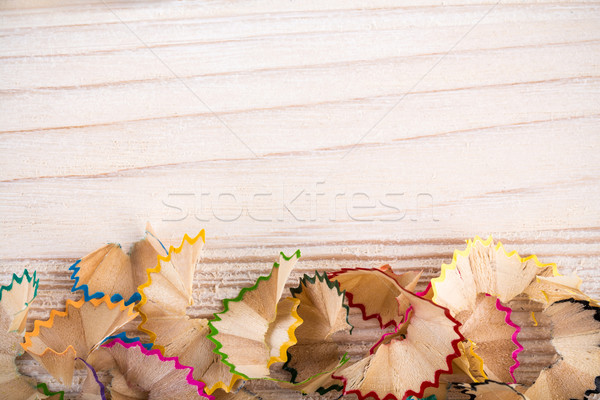 Bunch of pencil shavings Stock photo © viperfzk