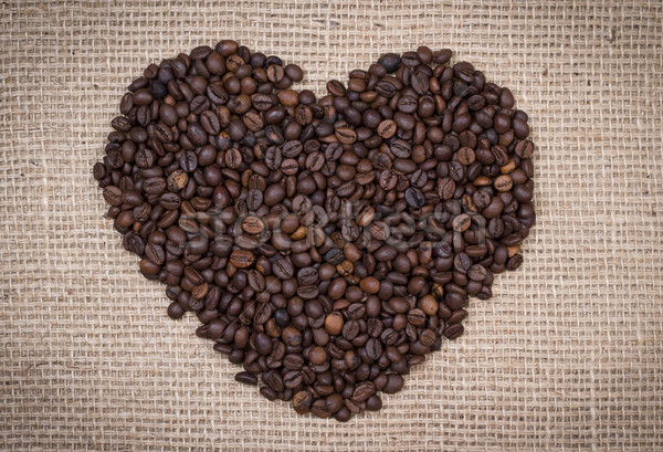 Coffee beans shaping a heart Stock photo © viperfzk