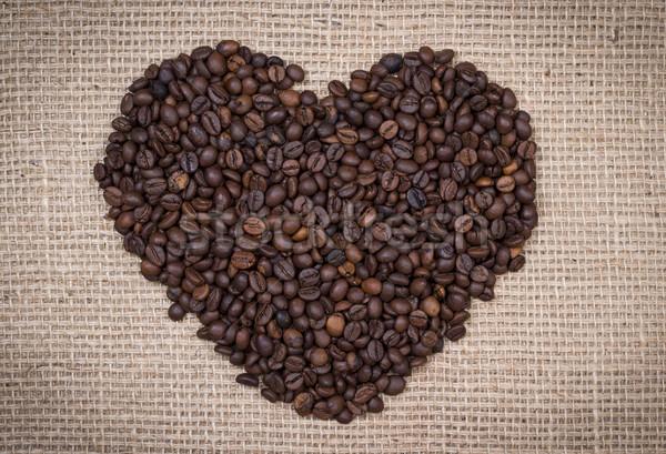 Kávé szív köteg terv háttér ital Stock fotó © viperfzk
