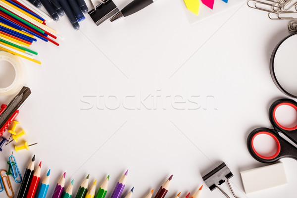 事務用品 白 場所 文字 学校 ペン ストックフォト © viperfzk
