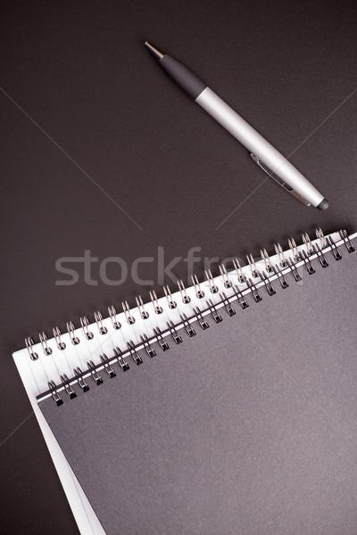 черный таблице блокнот школы пер Сток-фото © viperfzk