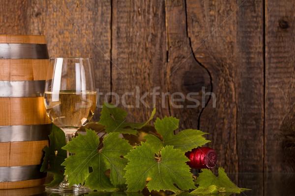 стекла бутылку вина покрытый продовольствие вино природы Сток-фото © viperfzk