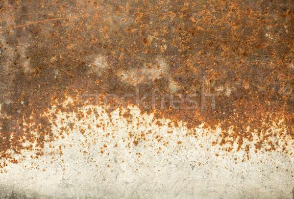 старые ржавые металл белый выветрившийся краской Сток-фото © viperfzk