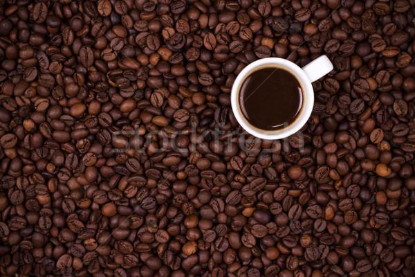 コーヒー豆 白 カップ コーヒーカップ テクスチャ ストックフォト © viperfzk