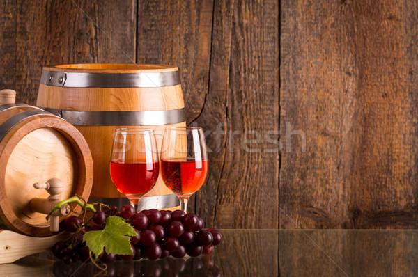 два очки вино виноград темно Сток-фото © viperfzk