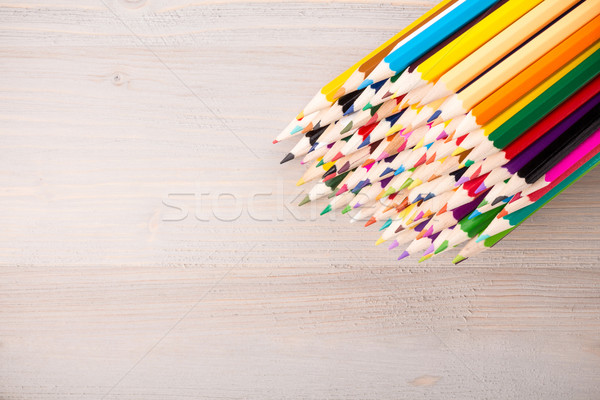 Szín ceruzák egyezség fény fából készült fa Stock fotó © viperfzk