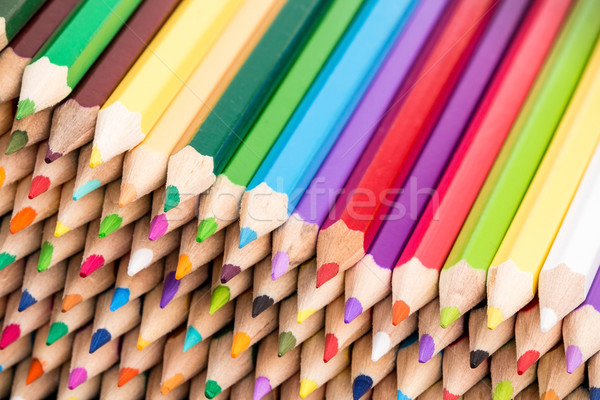 Close up of color pencils pile front facing  Stock photo © viperfzk