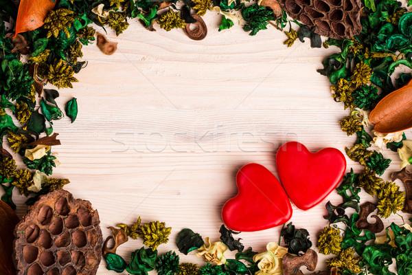 сушат растений цветы любви древесины Сток-фото © viperfzk