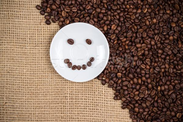 белый текстуры дизайна кафе пластина Сток-фото © viperfzk